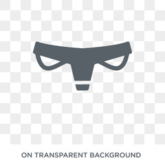 Panties icon. Panties design concept from Clothes collection. Simple element vector illustration on transparent background.