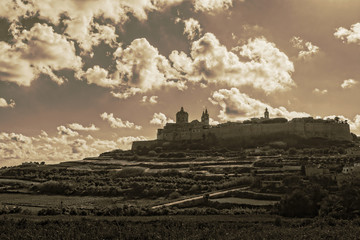 Clouds over the Silent City of Mdina, Malta