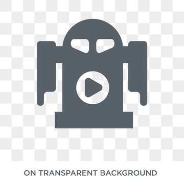 R2D2 icon. Trendy flat vector R2D2 icon on transparent background from Cinema collection. High quality filled R2D2 symbol use for web and mobile