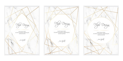 Gold polygonal frame. Gold geometric shapes. Diamond shape. Minimal template for creative designs, card, invitation, party, birthday, wedding.