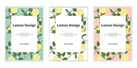 set of banners with orange, lemon. eps10.