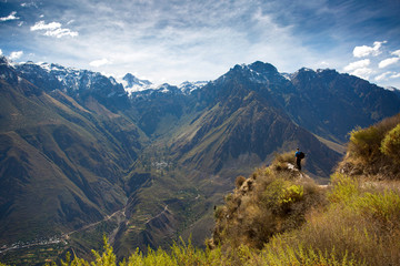 View of mountains around the Colca Canyon, Peru