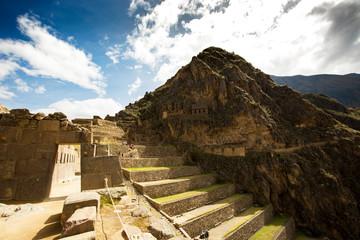 Inca terraces at Ollantaytambo, Peru