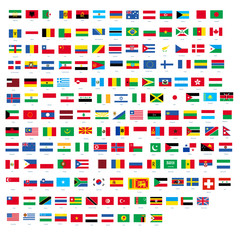 All official national flags of the world design Vector