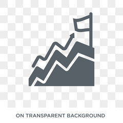Mission icon. Trendy flat vector Mission icon on transparent background from Business and analytics collection. High quality filled Mission symbol use for web and mobile