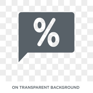 Percentage change icon. Trendy flat vector Percentage change icon on transparent background from business   collection. High quality filled Percentage change symbol use for web and mobile