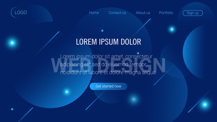 Liquid color background design. Landing page template. Header for website. High detailed isometric vector illustration. eps10