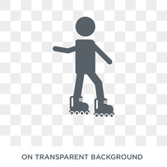 Rollerblade icon. Trendy flat vector Rollerblade icon on transparent background from Activity and Hobbies collection. High quality filled Rollerblade symbol use for web and mobile