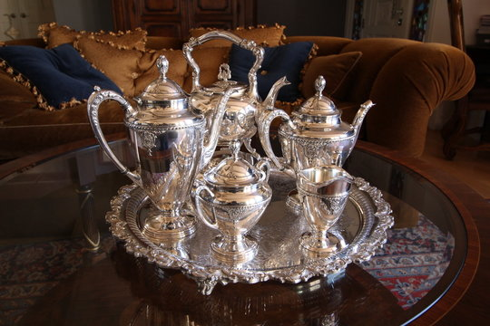 Sterling silvertea set