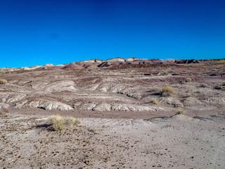 Landscape of the Badlands outside Holbrook Arizona