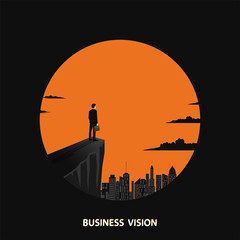 Business visionary vector concept