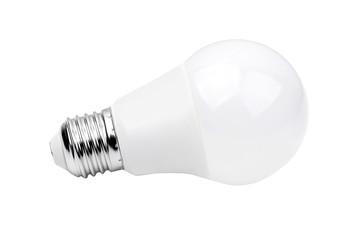 LED bulb on white