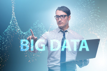 Fintech financial big data concept with analyst