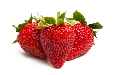 ripe strawberry isolated
