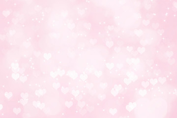 Heart shape bokeh Valentine day background