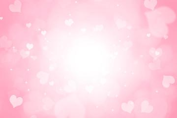 Heart shape bokeh Valentine day background