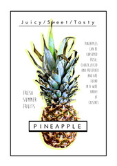Pineapple print,trendy fashion graphic.
