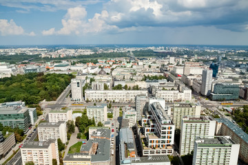 A view of Warsaw from above
