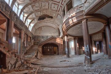 Destroyed, abandoned palace.