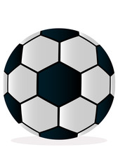 Vector illustration soccer ball on white background