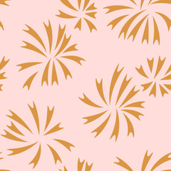 Abstract seamless pattern with fireworks. Festive background. Vector illustration.