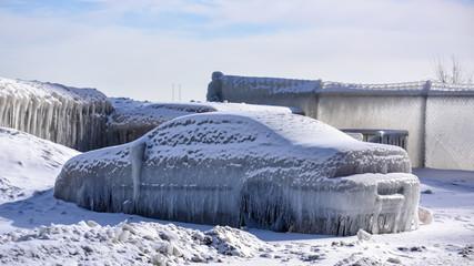 Frozen Winter in Chicago