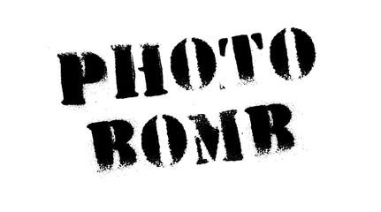 Photo bomb black stamp