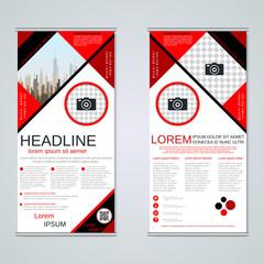 Modern roll-up business banners vector template