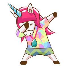 dabbing unicorn graphic