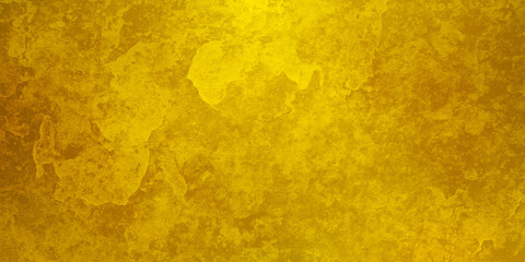 Gold background with old abstract stone grunge texture, luxury yellow background
