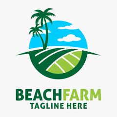 Beach farm logo design
