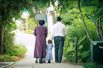 Walking Amish Family