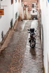 Foto op Canvas Zuid-Amerika land empty Cusco street