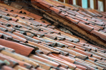 old tile roofs in Cusco