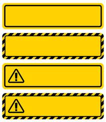 警告サインのフレーム