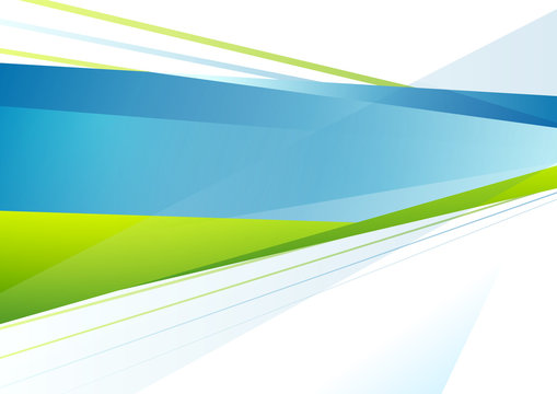 Abstract blue and green tech stripes background