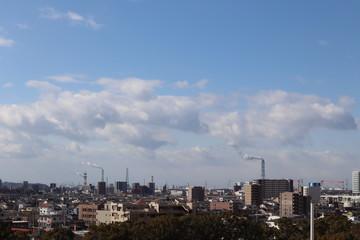 Fototapeta 愛知県東海市、大池公園展望台から