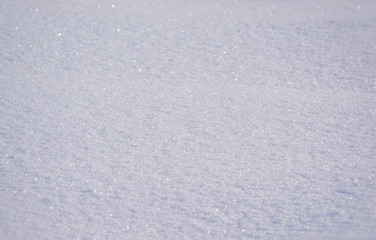 The texture of snow