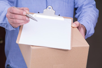 delivering packages and boxes at home
