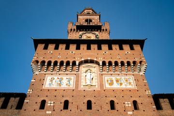 Milan, Lombardy / Italy - January 24th 2019: Milan, Castello Sforzesco. Piazza Cadorna and Largo Cairoli areas.