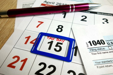 Tax day - April 15 2019