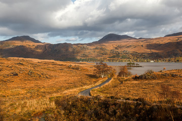 Landscape in Scotland Highlands by Poolewe
