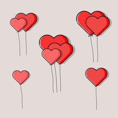 Heart Logo design vector template.