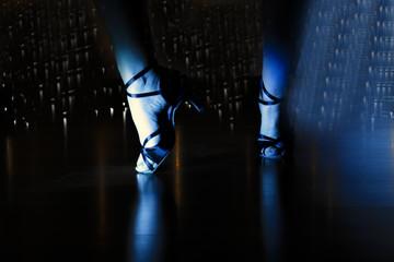 Feet dancer in disco