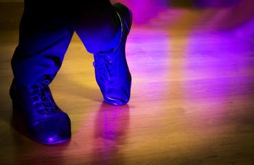 Feet dancer dancing salsa