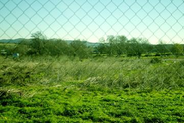 Field vision through a fence
