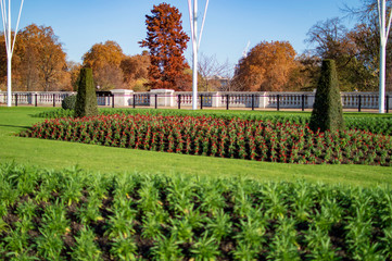 Garden ground before Buckingham Palace London