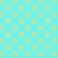 Pattern with yellow flowers
