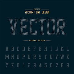 Dotted Font and alphabet vector, Typeface and number design, Graphic text on background