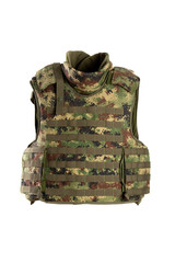 Modern bulletproof vest isolated on a white background. - Image